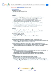 a couple of weeks ago i enlisted the help of a friend to help me update my resume for our companys internal postings we did a google resume variation for