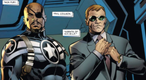 Nick Fury and Agent Coulson
